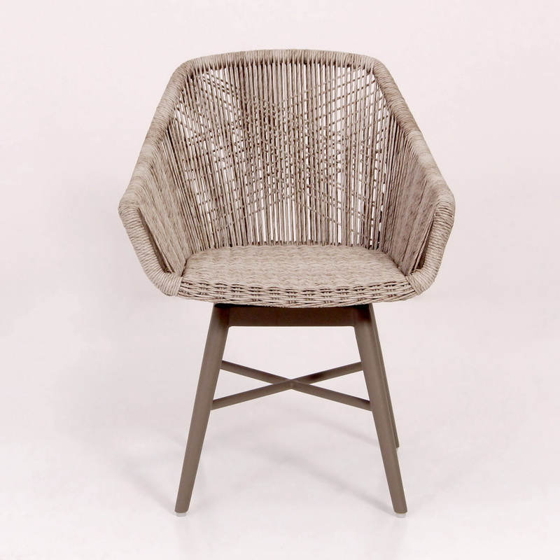 Modern rattan swivel chair