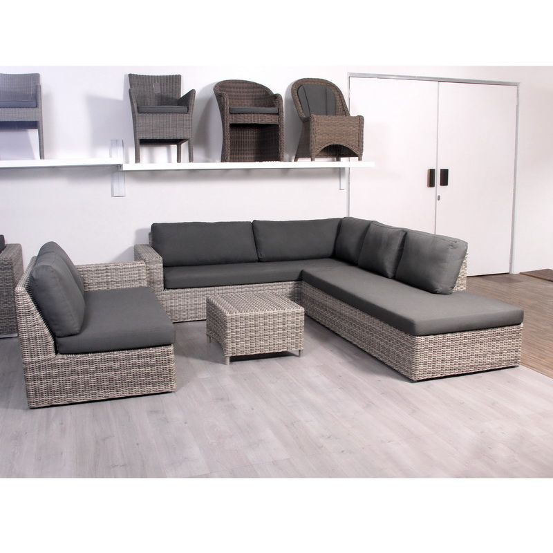 grey wicker sectional