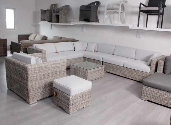 Grey Rattan Modular Garden Furniture