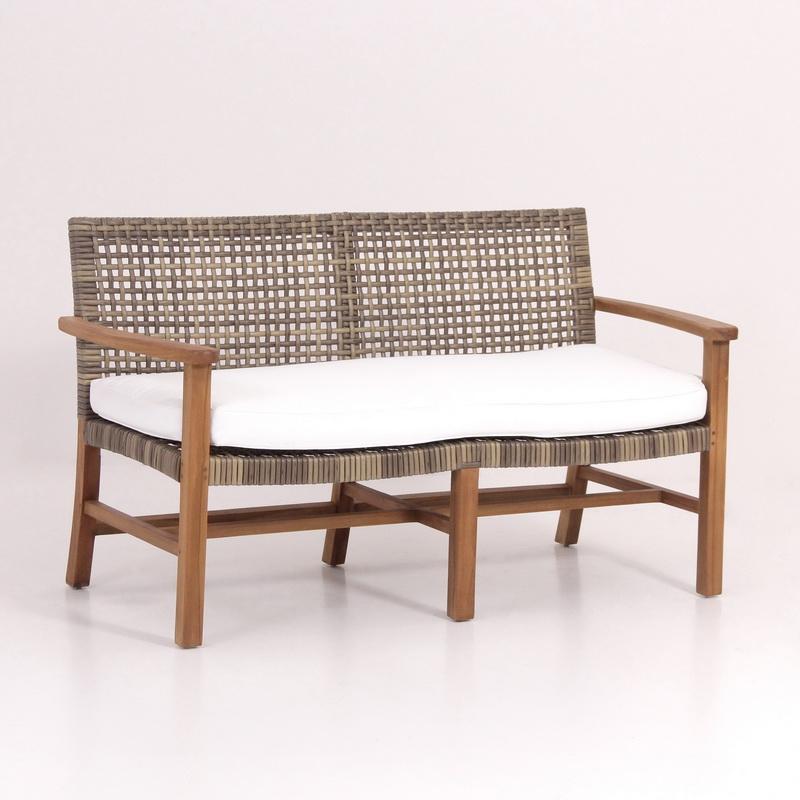 Modern rattan bench