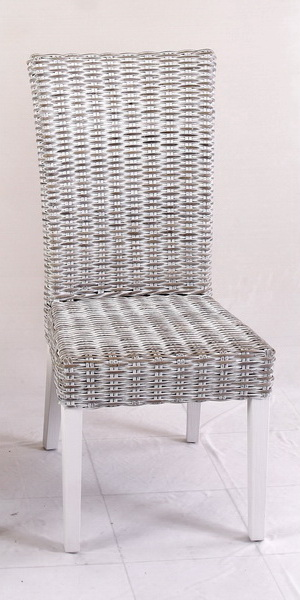 grey wash rattan chair